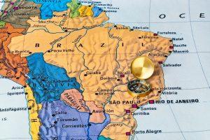 Paraguay auf der Karte